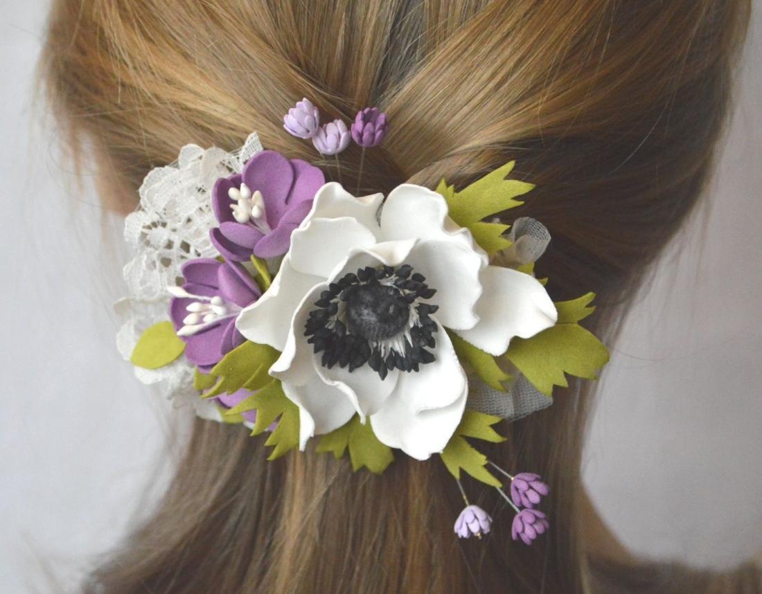 7de5c698c7d9731af1a8cc4546d4151b Заколки из фоамирана: цветы своими руками, фото и для волос мастер-класс, ободок автомат, МК с розой как сделать