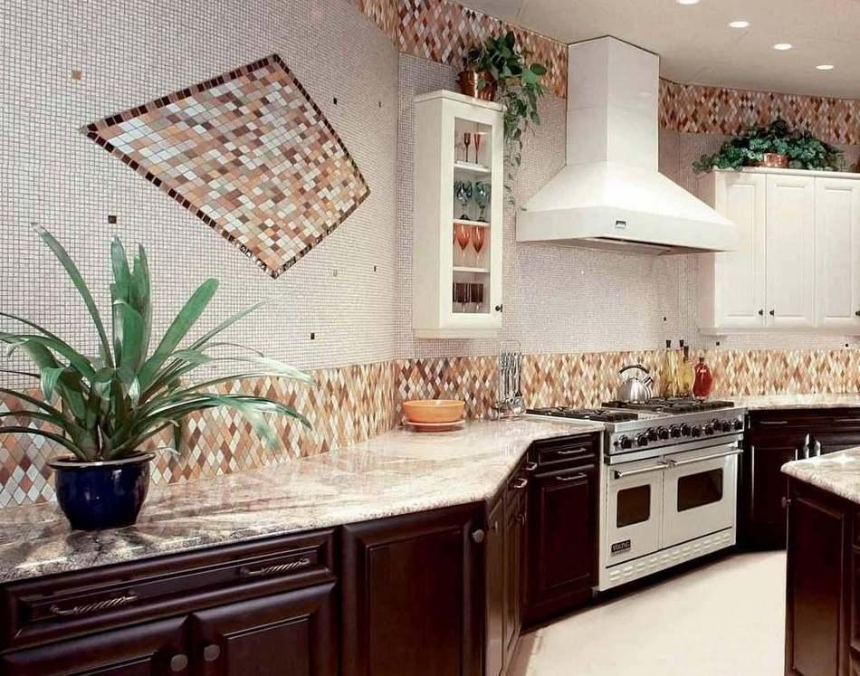 Примеры отделки кухни с рисунком фото бы