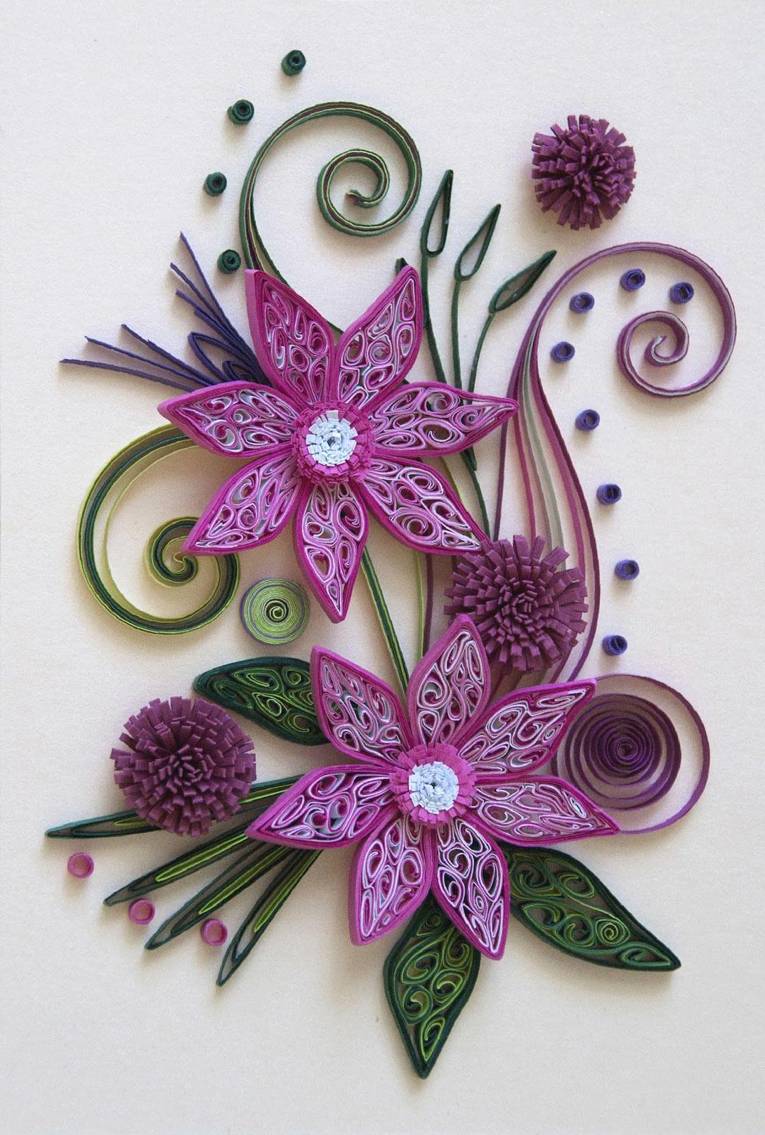 Цветы на открытки квиллинг, открытки рамки