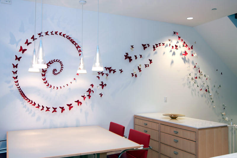 Бабочки одного тона - очень стильное решение