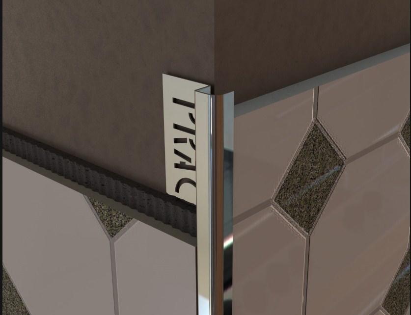 Выбирать наружный алюминиевый уголок следует, исходя из дизайна плитки
