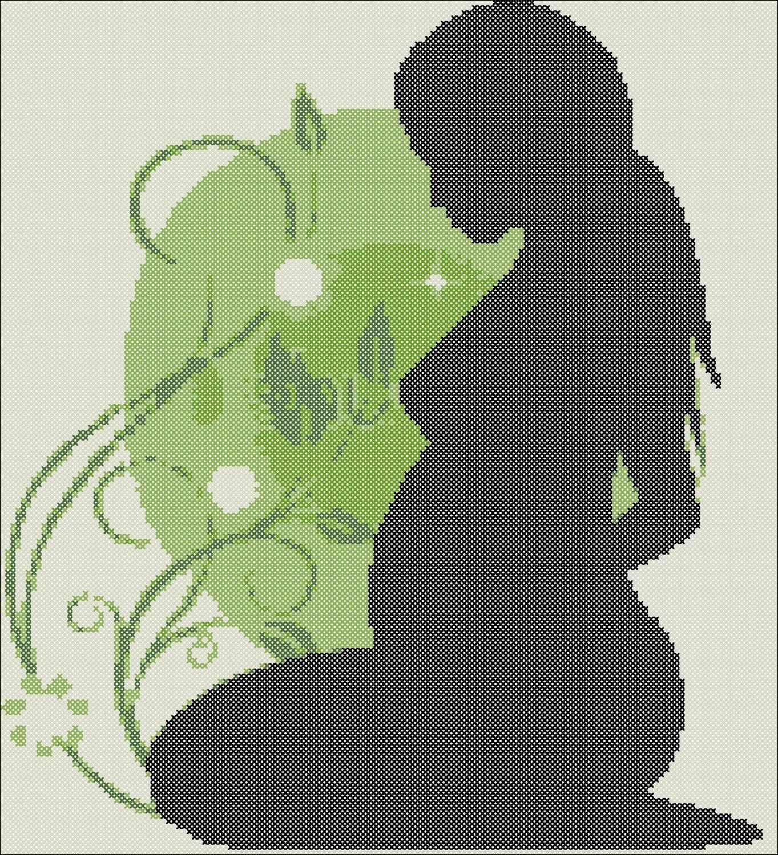 Процесс вышивания по схеме «Беременная девушка» доставит удовольствие, поможет расслабиться и обрести гармонию