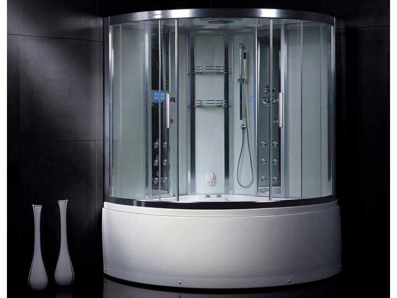 Легкая кабина со стеклянными раздвижными дверьми в алюминиевом профиле