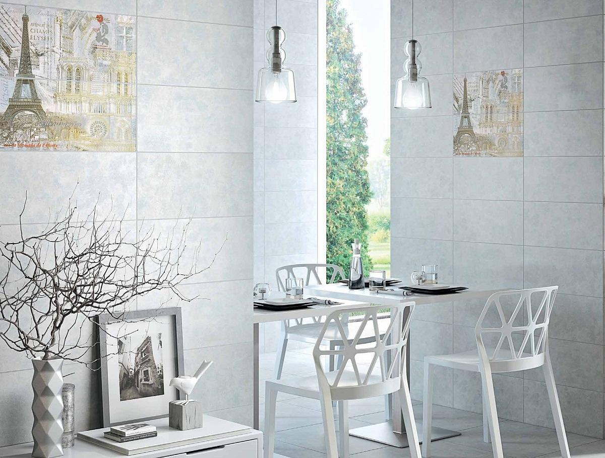 Плитка Интеркерама металлика хорошо впишется в ванную комнату, сделанную в стиле хай-тек