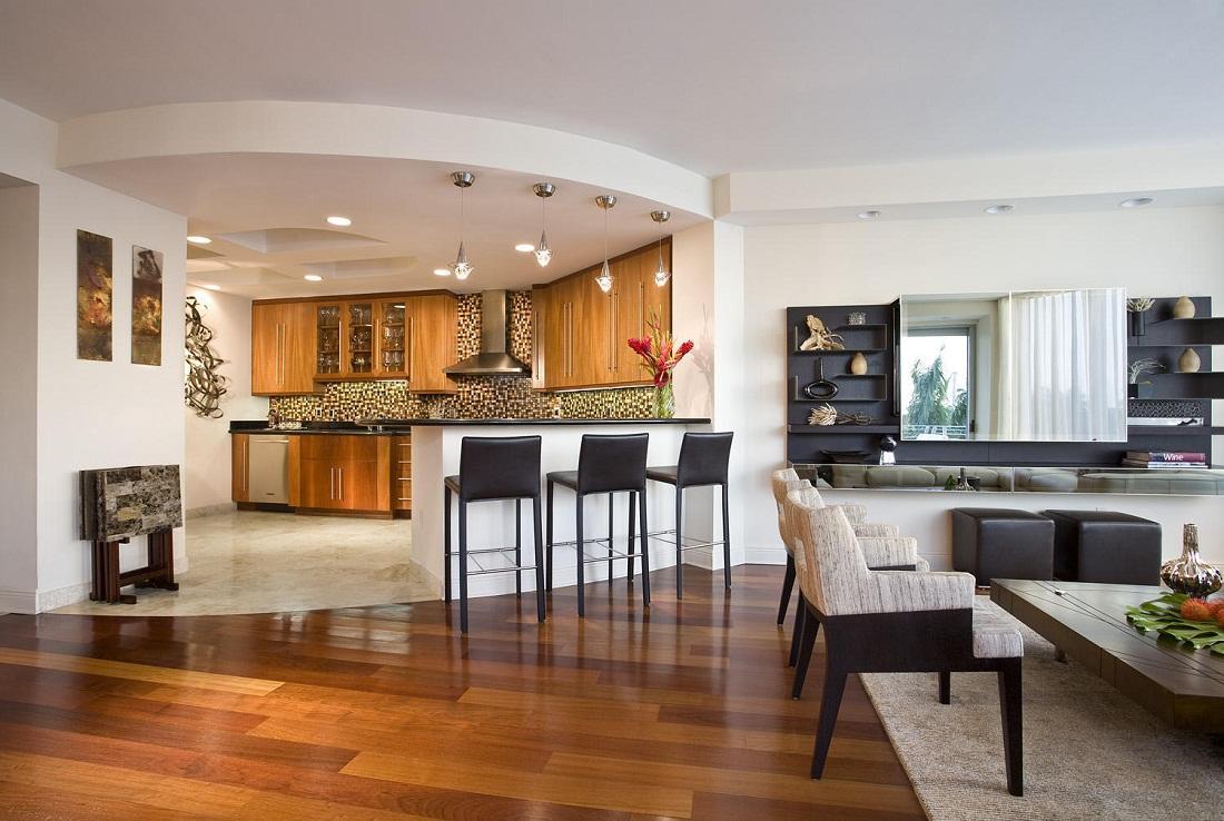 Гостиная и кухня в доме картинки