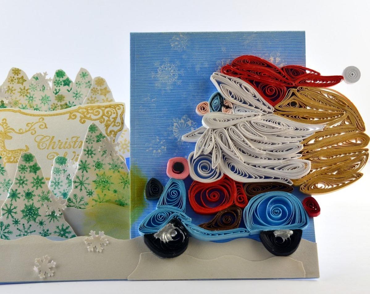 плитка новогодняя открытка в стиле квиллинг своими руками мастер-класс вами снова