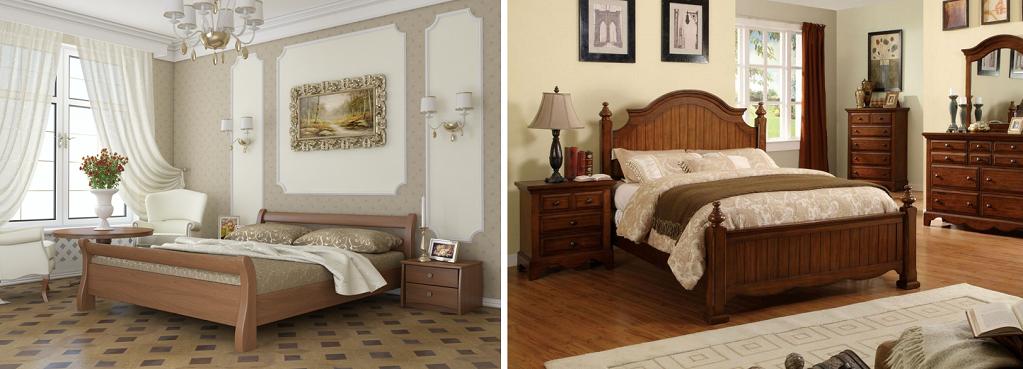 Кровати из деревянного массива занимают лидирующие позиции на рынке по совокупности таких качеств, как экологичность, комфорт и долговечность