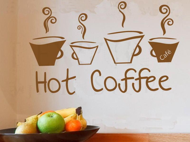 Кружка дымящегося кофе — отличная идея для рисунка, наносимого с помощью трафарета