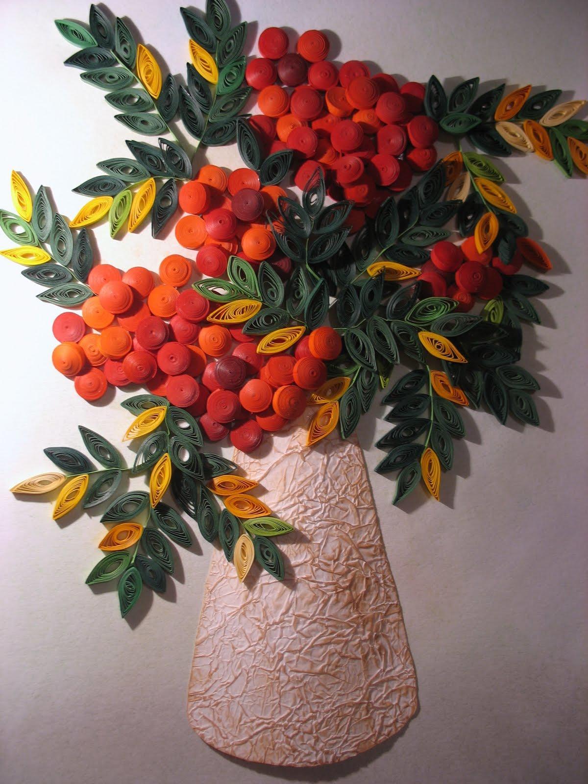 IMG_7524 Рябина квиллинг: осеннее дерево из бумаги в фото МК