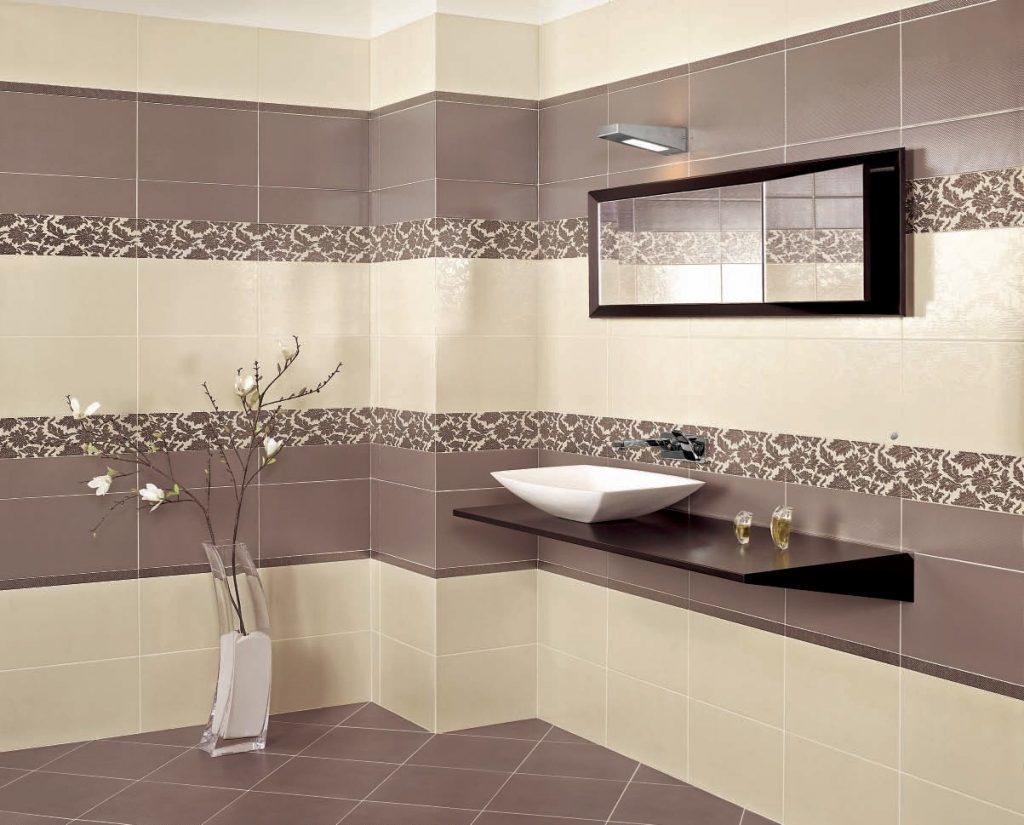 Ванная комната, выложенная плиткой Керамин, выглядит стильно и красиво