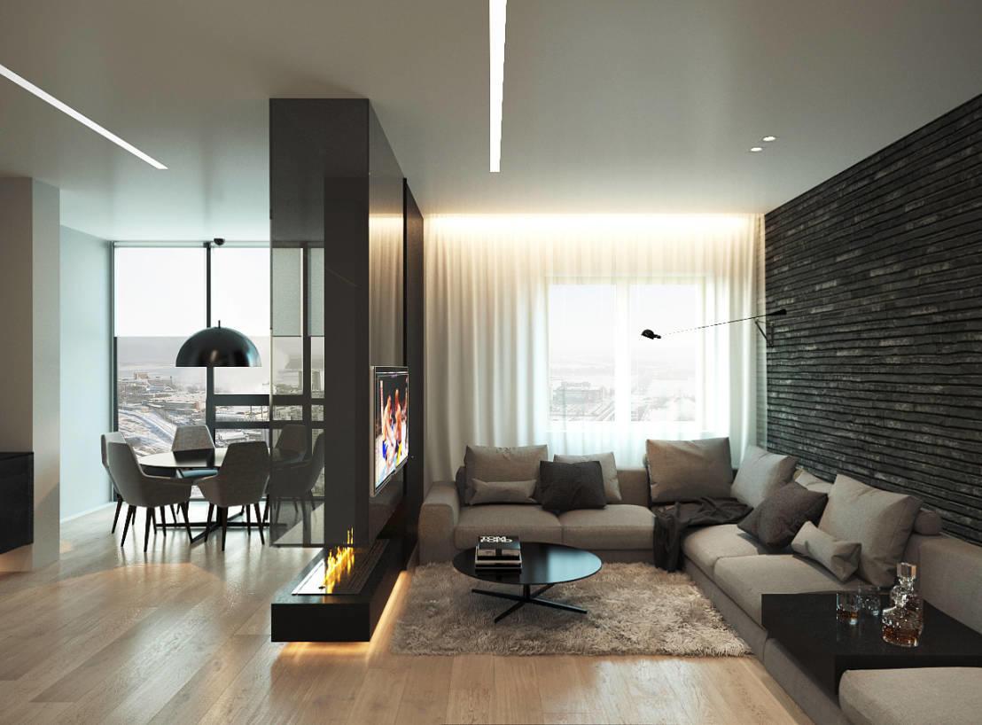 Разделенная спальня и гостиная сделают интерьер уникальным и неповторимым