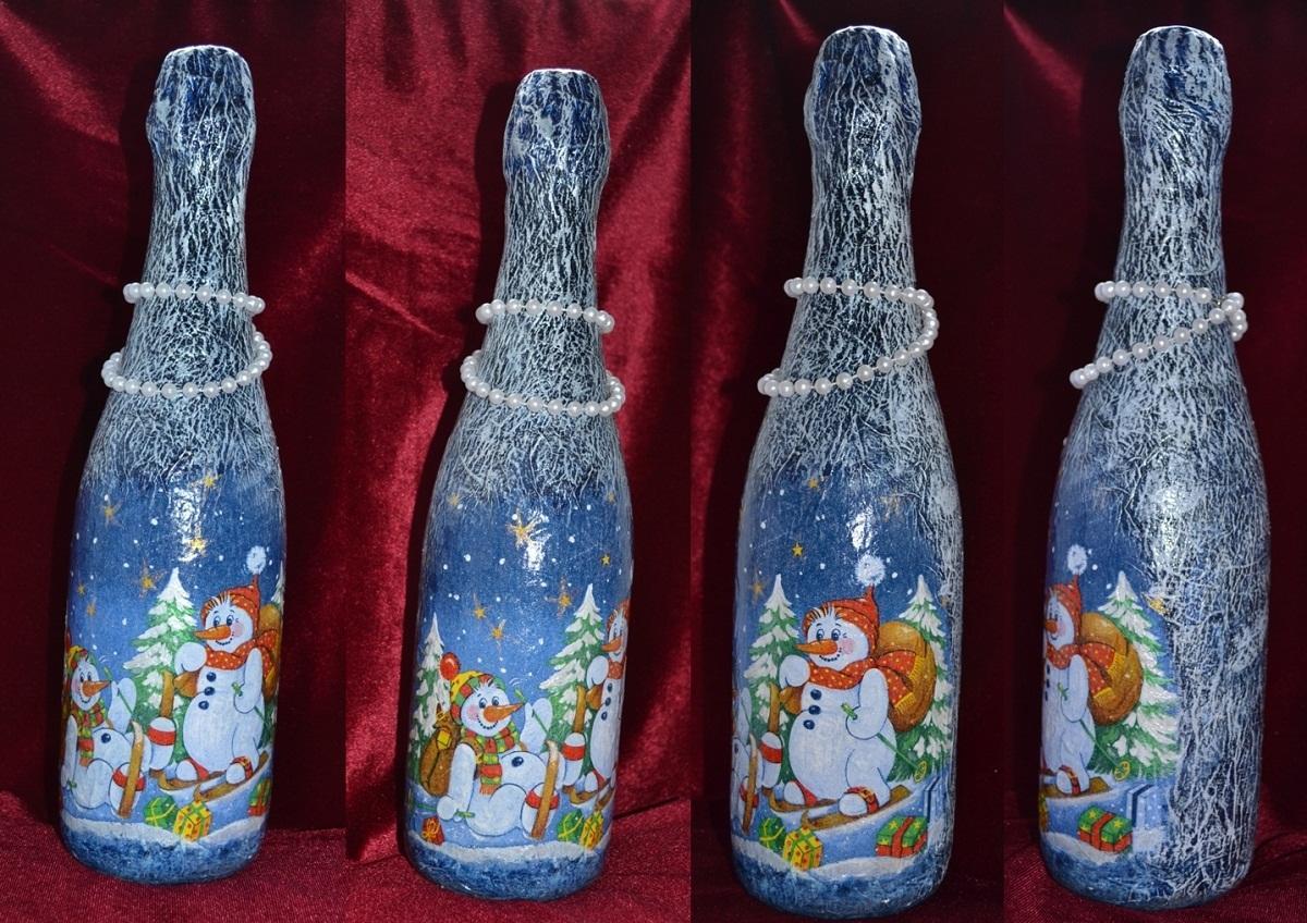 all_(2)1 Декупаж бутылки шампанского: свадебные своими руками, пошаговое фото, технику как сделать, МК как украсить
