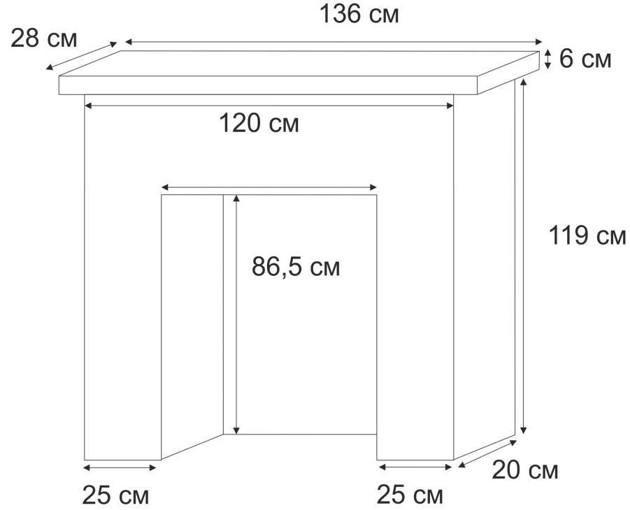 Размеры камина из кирпича стандарт