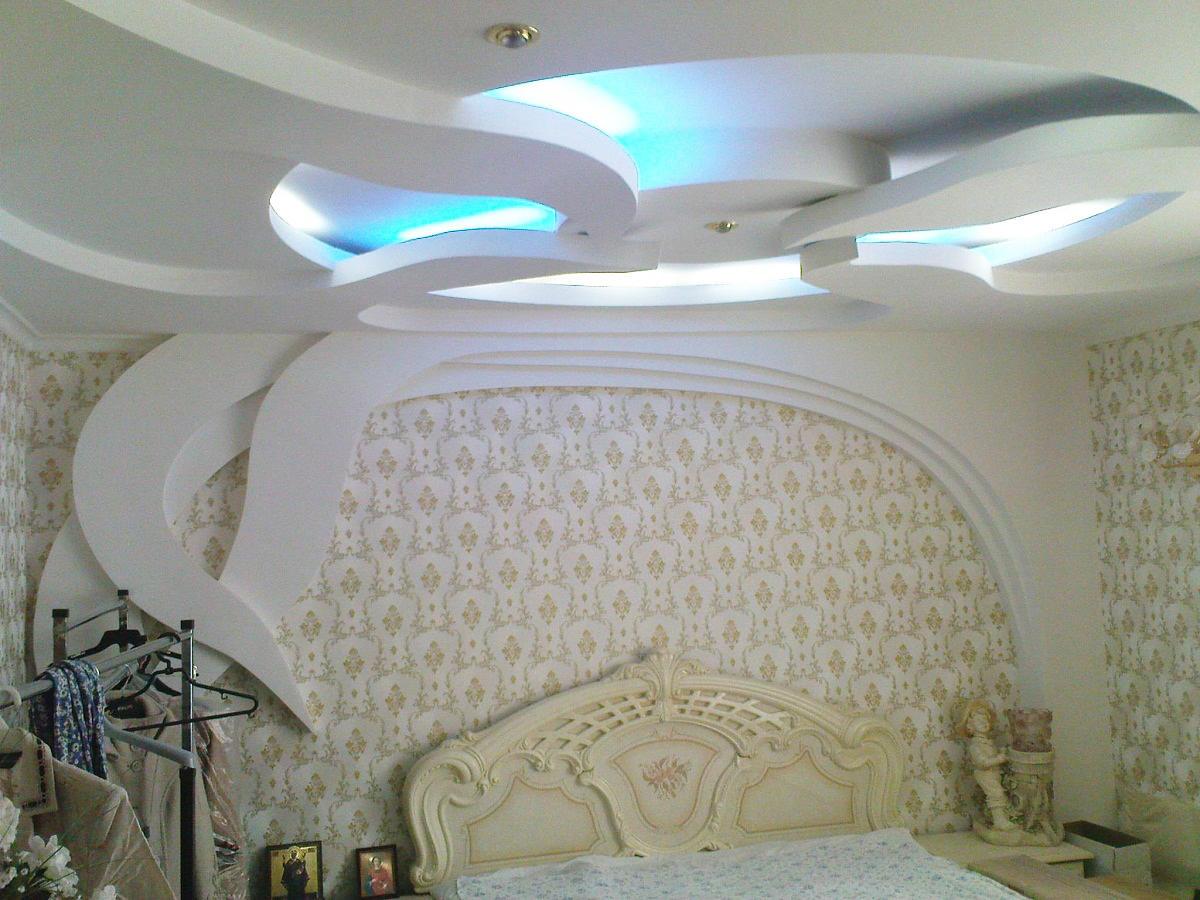 Фото потолков и стен из гипсокартона