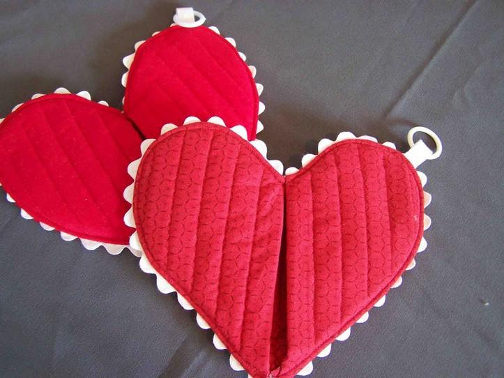 heart Прихватки для кухни своими руками: Выкройки, схемы и примеры