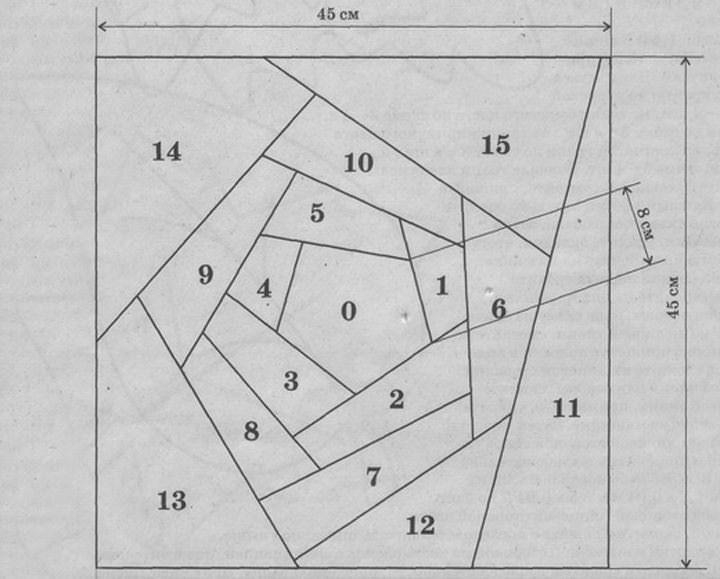 image11 Подушки пэчворк своими руками: популярные варианты схем (3 МК)?