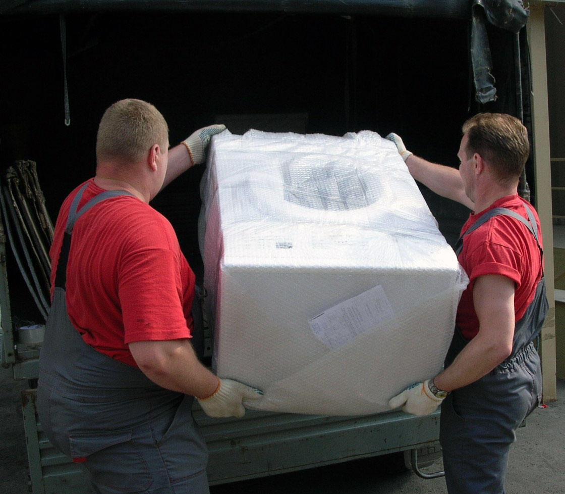 Перевозку стиральной машины рекомендуется поручить профессионалам