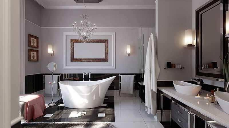 Самые предпочтительные виды обоев для ванной - флизелиновые и стекловолокнистые: первые и качественные, и недорогие; последние способны укрепить стену в ванной комнате