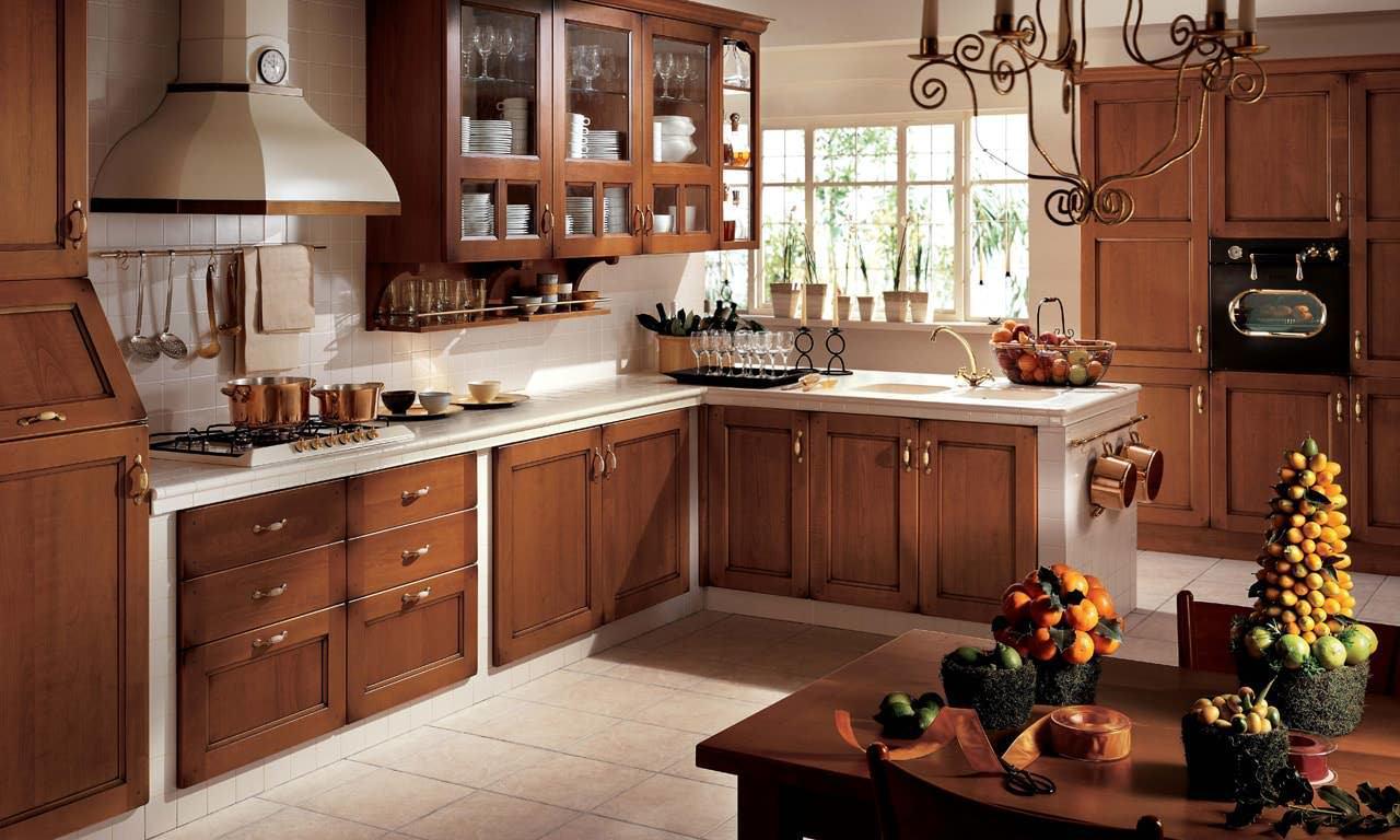Кухня в деревенском стиле отлично подойдет и для городской квартиры