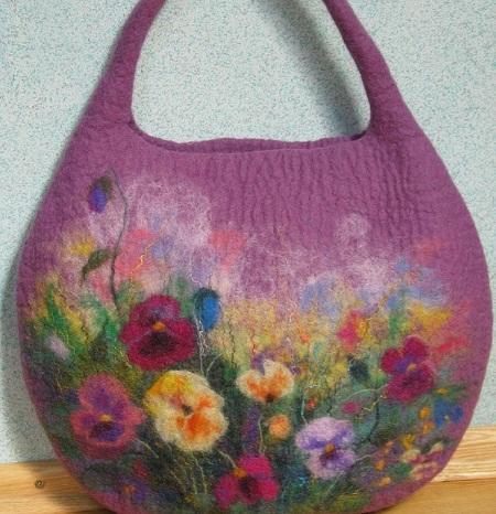 _1 Валяние из шерсти сумки — мастер-класс. Какие сумки можно свалять из шерсти в домашних условиях?