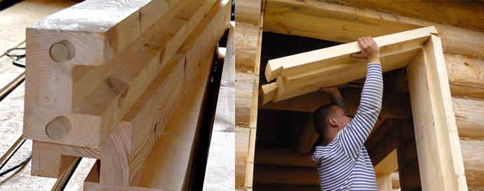 Окосячка дверных проемов в деревянном доме предназначена для того, чтобы создать опору для всего здания