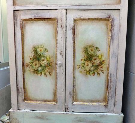122 Декупаж старого шкафа своими руками фото: кухонный мастер-класс, как сделать оформление двери шкафчика
