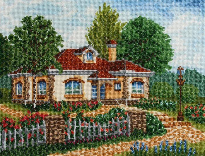 Красивая картина с уютным домиком способна украсить практически любой интерьер