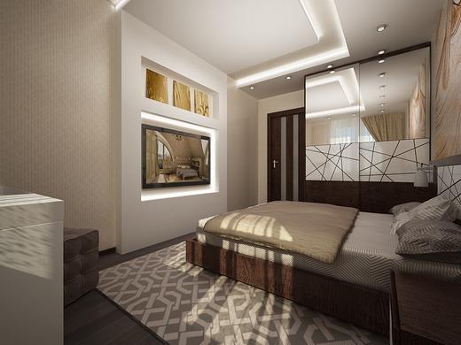 Если правильно обустроить небольшую комнату, то в итоге можно получить роскошную спальню со всем необходимым