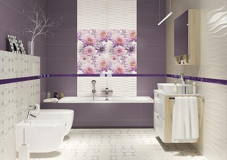 Польская плитка отлично подходит как для больших, так и маленьких ванных комнат