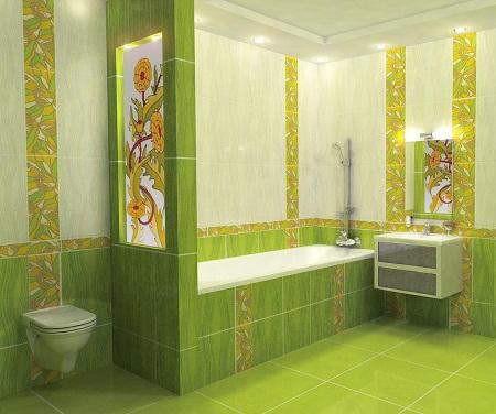В продаже есть множество различной плитки для ванной комнаты, которая отличается по фактуре, цвету, материалу и размерам