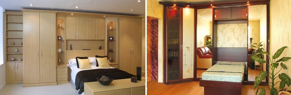 Встроенная мебель - отличное решение для обустройства маленькой спальни, т. к. она помогает экономить место, а также использовать его более продуктивно