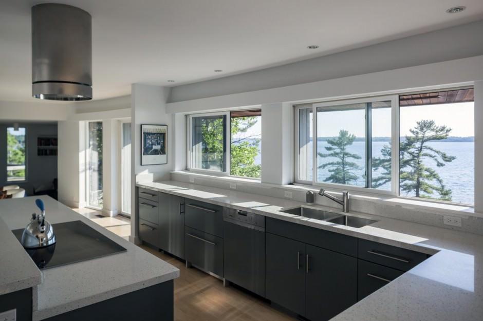 прочих картинки кухни с большим окном покоя природной