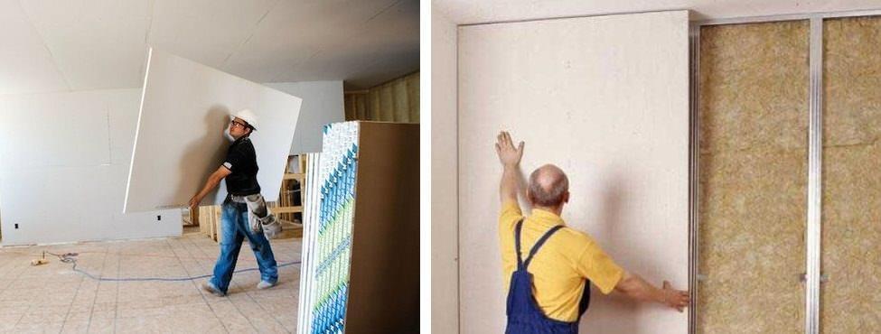 Если необходимо быстро устранить значительные дефекты стены, гипсокартон подойдет как нельзя лучше