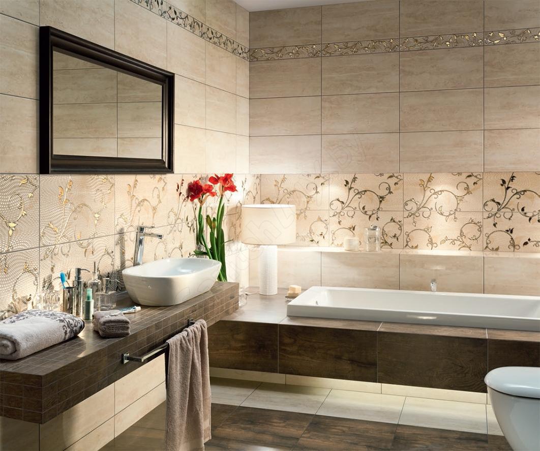 Выбирать плитку для ванной следует, исходя из габаритов помещения и стиля интерьера