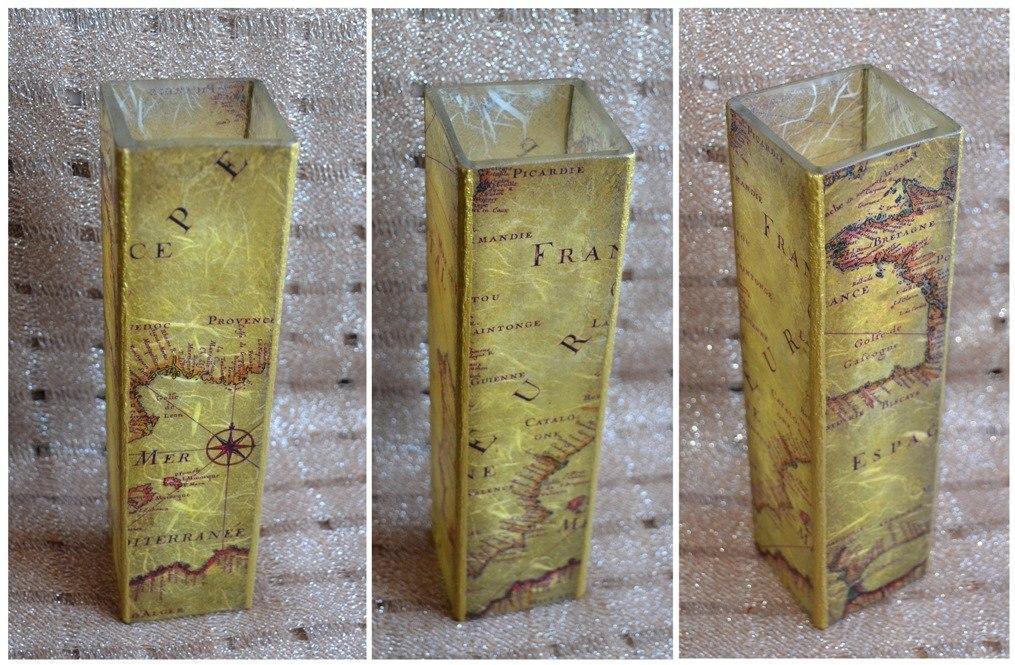z_31045d12 Декупаж стеклянной вазы: мастер-класс и пошаговая инструкция, как за декорировать сосуд своими руками
