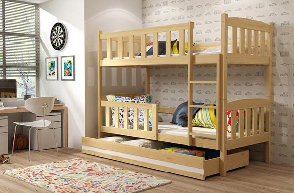 При выборе двухярусной кровати обратите пристальное внимание на надежность мебели