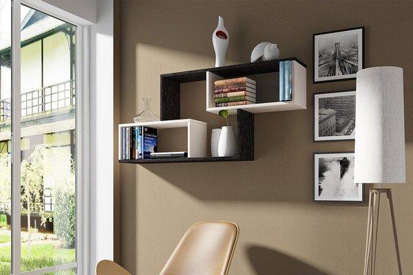 Настенная мебель поможет освободить пространсто в комнате