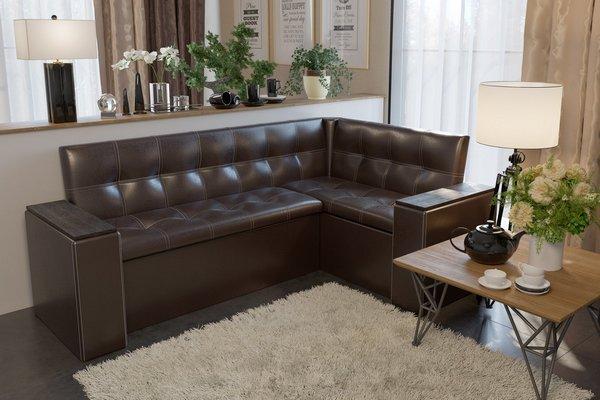 Угловой диван на кухне - это удобно и практично