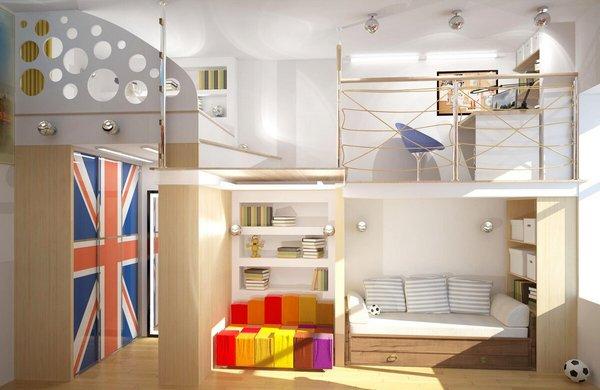 Даже в небольшом помещении или ограниченном пространстве нужно выделить ребенку небольшую индивидуальную зону.