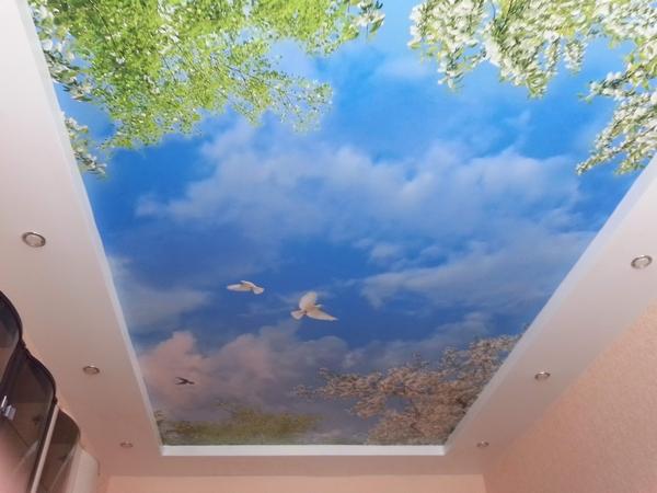 Оригинальные натяжные потолки в дизайне
