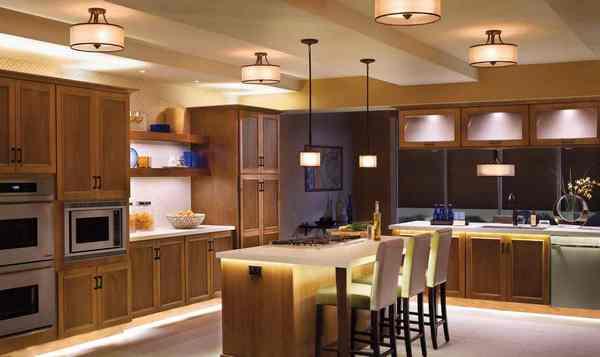 Выбираем потолочные светильники для кухни