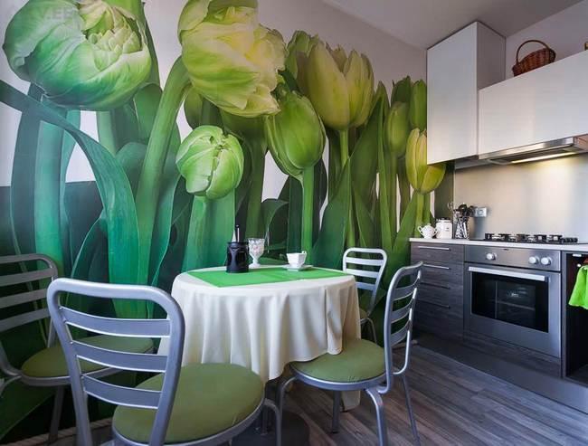 Сюжет рисунка задает определенное настроение и атмосферу в кухне