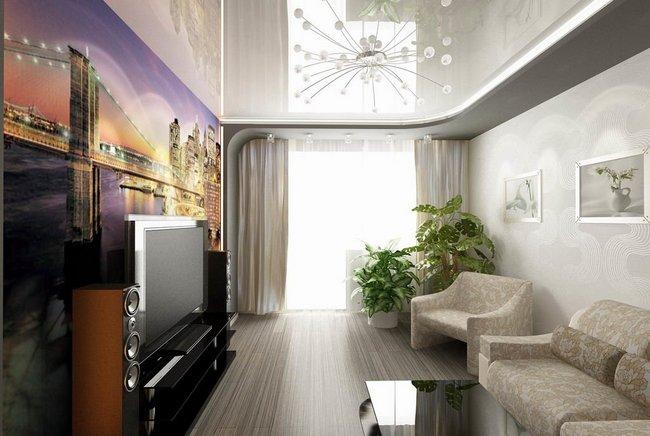 Натяжной потолок в дизайне интерьера
