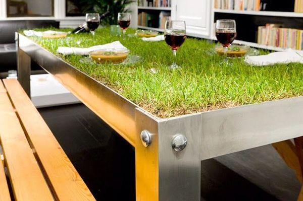 Искусственная трава Greenveld в интерьере кухни