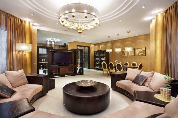 В стиле Ар-деко необходимо подбирать не только мебель, но и отделочные материалы, поскольку в сочетании так будет обеспечиваться привлекательность и уют