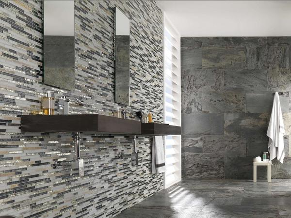 Использование натурального камня в интерьере ванной комнаты