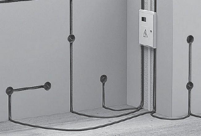 К скрытой проводке относятся совокупность всех проводов и кабелей проложенных в стене и других элементах контструкции здания
