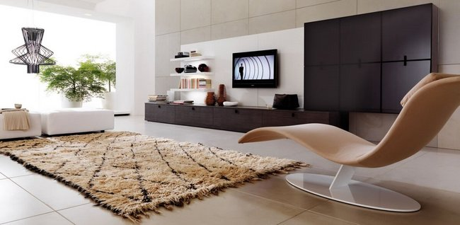 Мягкий, уютный ковёр согреет интерьер не только физически, но и визуально