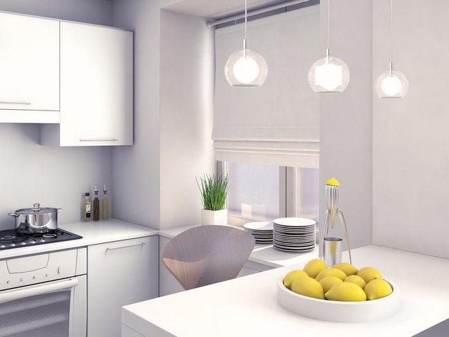Большую роль в дизайне маленькой кухни играет освещение