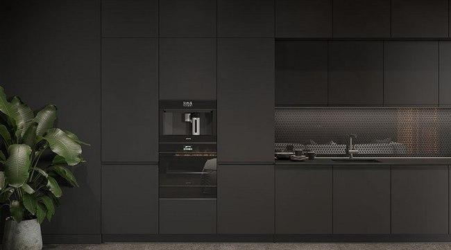 Оригинальный дизайн кухонного гарнитура в интерьере от КухниСити